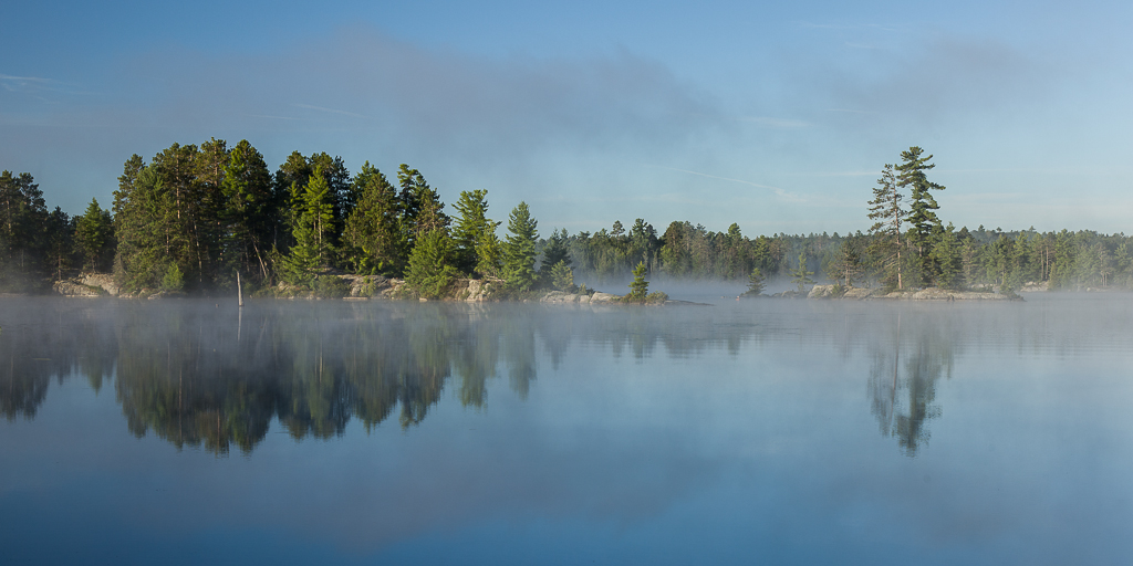 Fog on Weslemkoon Lake