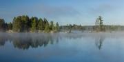 Fog on Weslemkoon Lake