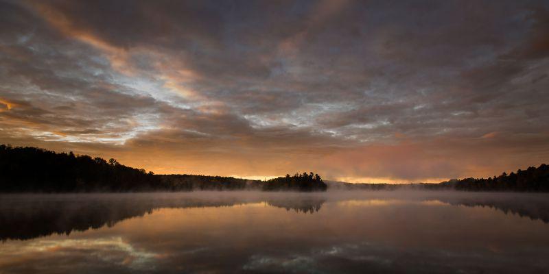 Fog Over Gin Lake
