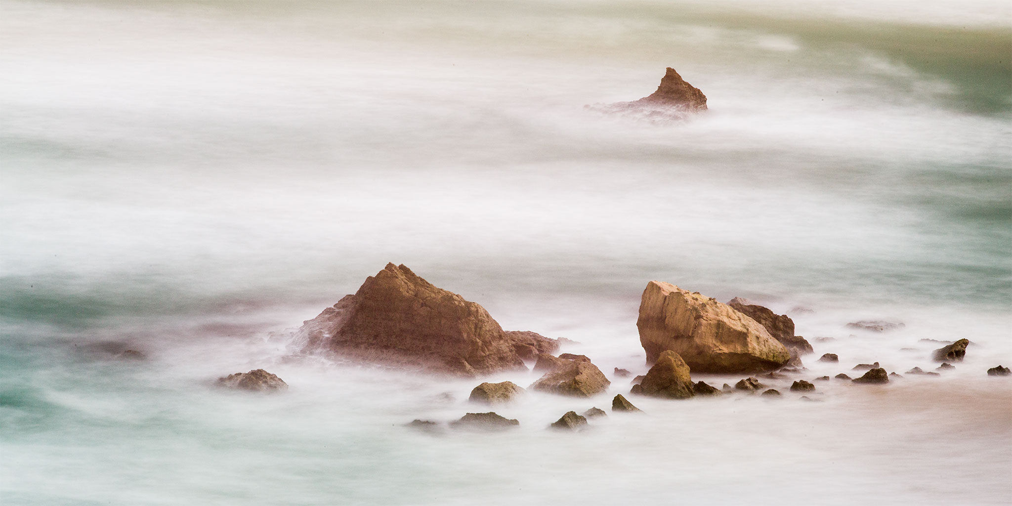 "Ocean Mist, 20"" x 40"" Gallery-wrap canvas Giclée limited edition print, $450."