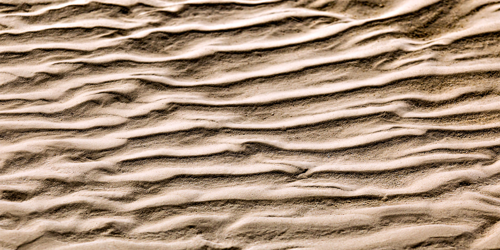 """Ripples in the Sand"" - I enjoy making abstract images. Here, ripples left by the ocean on the beach sand of Grand Bahama Island was the source of my exploration. Fascinating, isn't it? 20"" x 40"" Gallery-Wrapped Archival Pigment Print on Canvas $475"