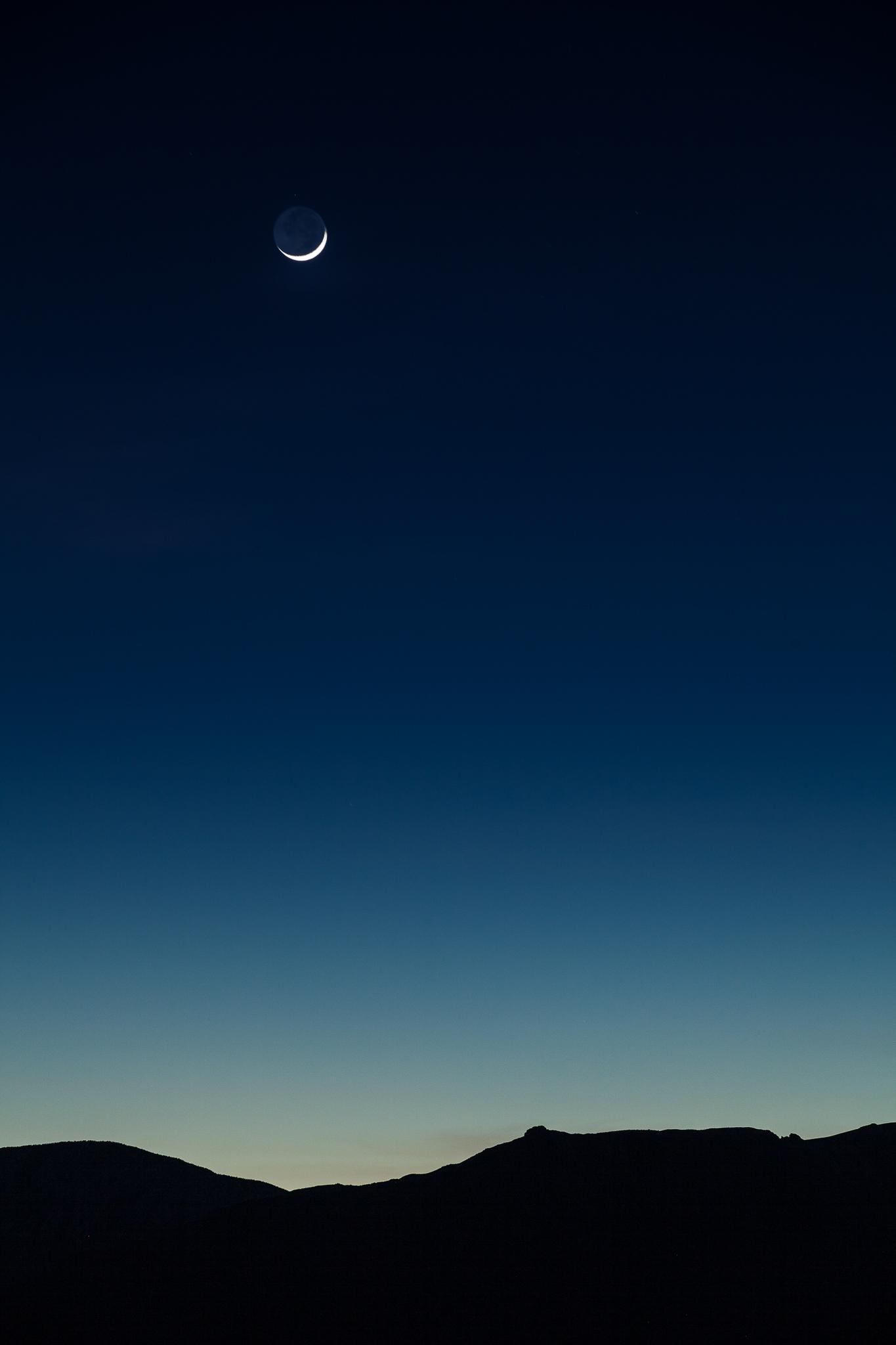 Death Valley Crescent Moon