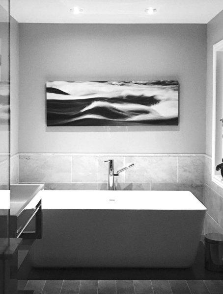 Burleigh Falls installed in a modern bath setting.