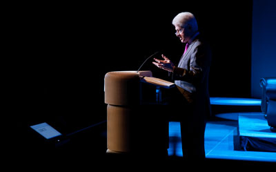 President Bill Clinton speaks in Windsor. Bob Gallagher produced and directed the show for the ECRA Foundation.